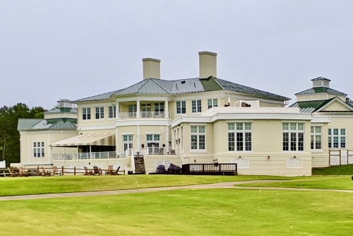 Independence clubhouse, rear view